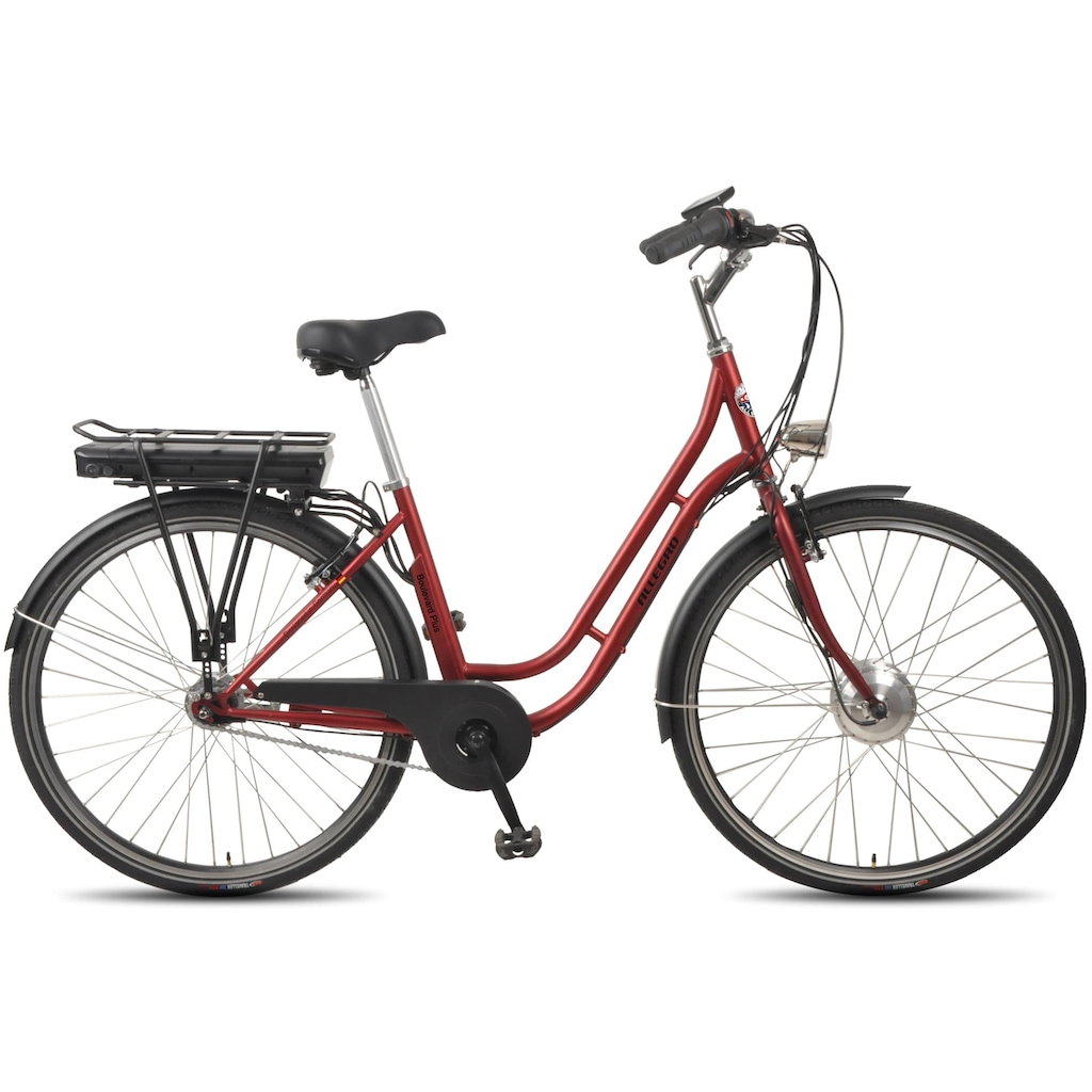 ALLEGRO E-Bike »Boulevard Plus 03 Bordeaux«, 7 Gang, Shimano, Nexus, Frontmotor 250 W