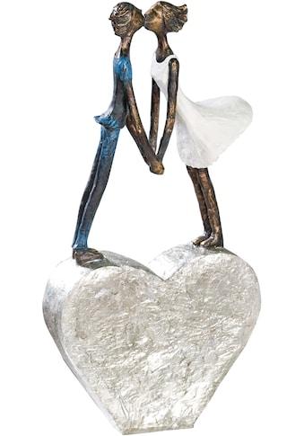 Casablanca by Gilde Dekofigur »Skulptur Devotion«, Dekoobjekt, Höhe 35 cm, küssendes Pärchen, mit Spruchanhänger, Wohnzimmer kaufen