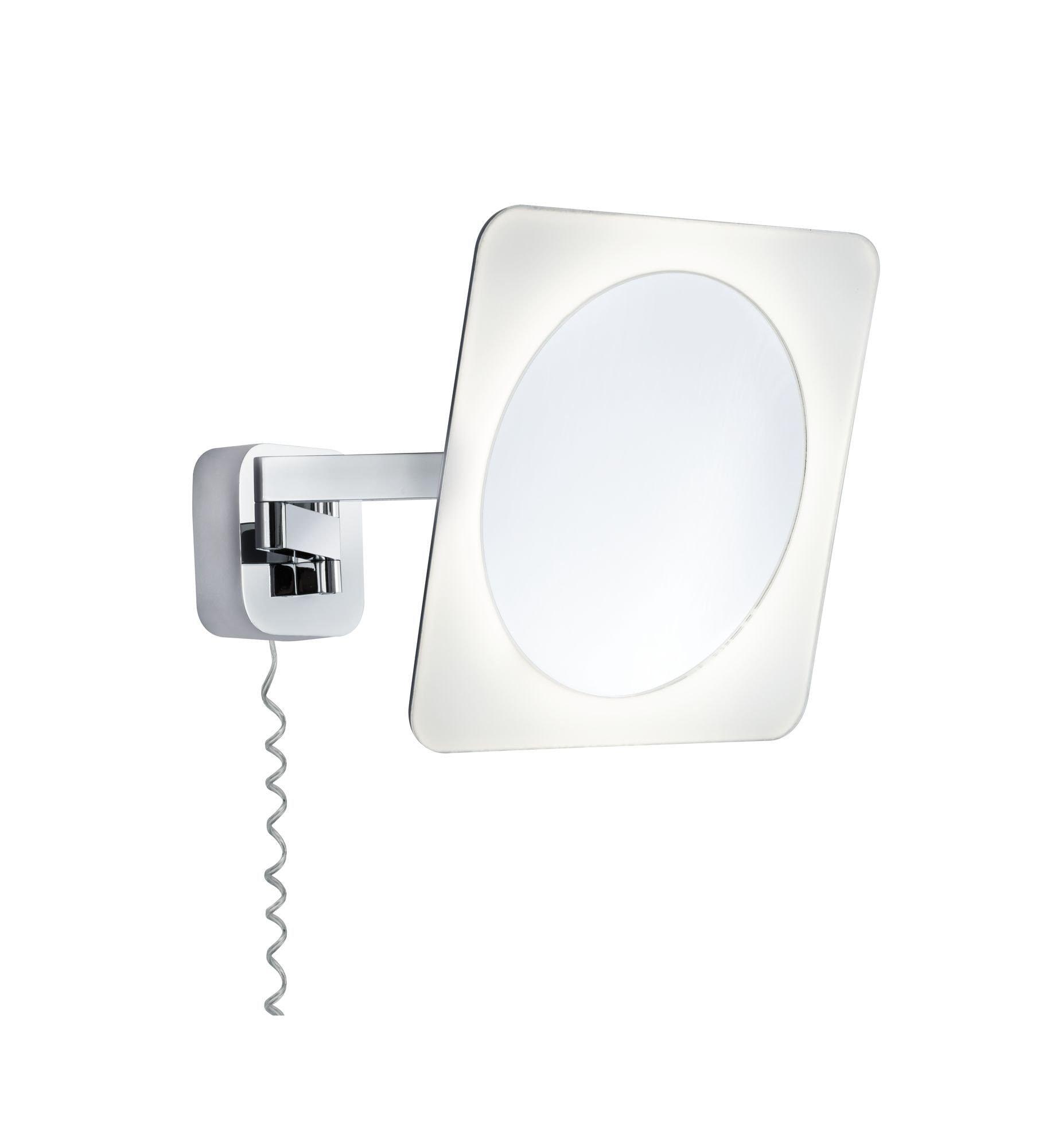 Paulmann LED Wandleuchte Kosmetikspiegel Bela 5,7W Chrom Weiß Spiegel Metall, 1 St., Warmweiß