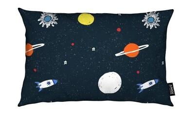 Juniqe Dekokissen »Planets Pattern«, Weiches, allergikerfreundliches Material kaufen