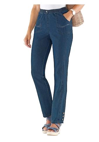 Classic Basics Jeans mit jeweils 3 Zierknöpfen am Fußende kaufen