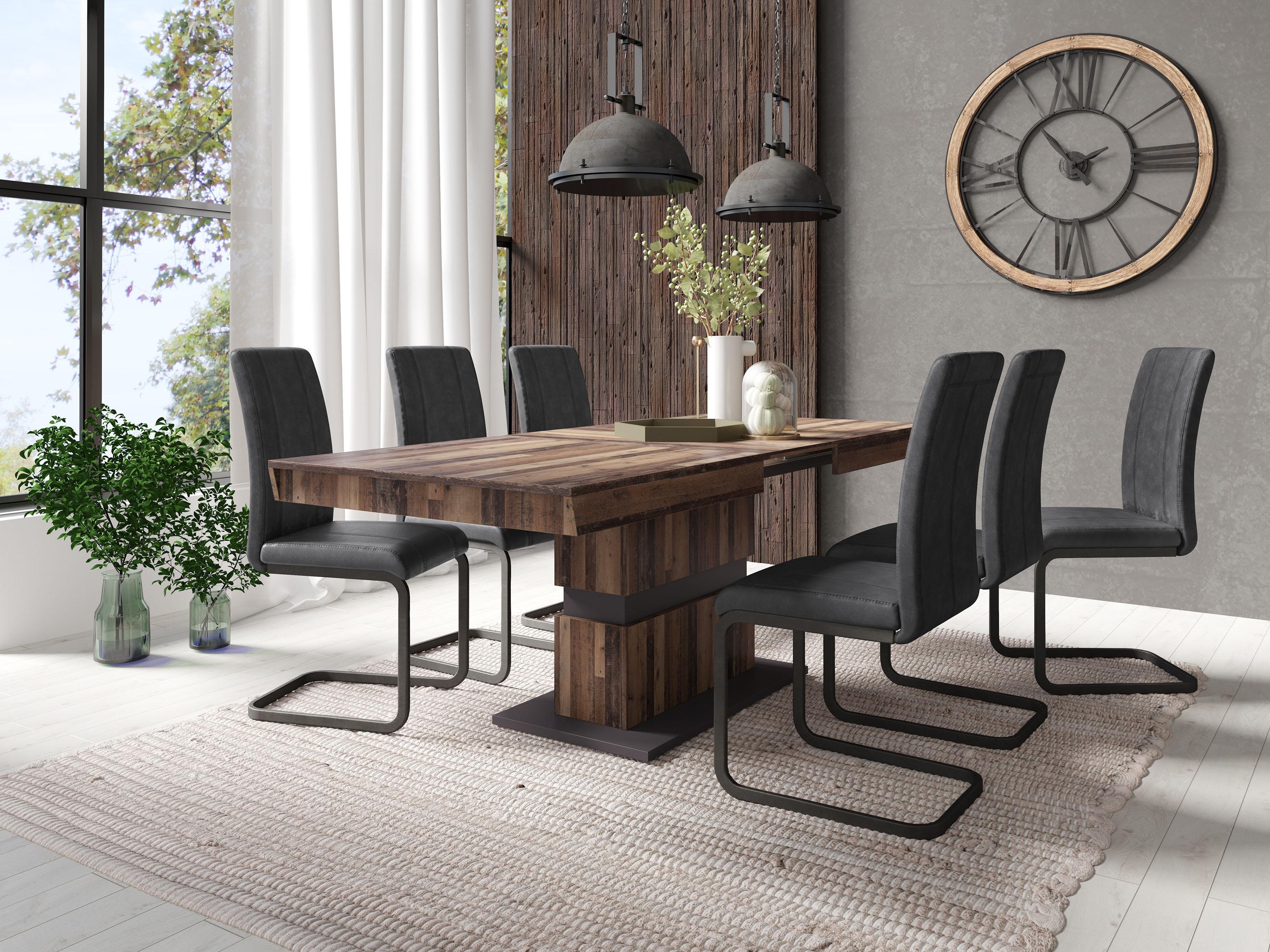 Homexperts Säulen-Esstisch Marley Az braun Esstische rechteckig Tische Tisch