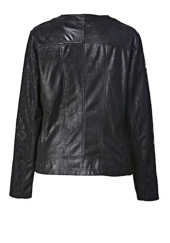 Angel of Style by Happy Size Lederimitat-Jacke mit Spitze kaufen
