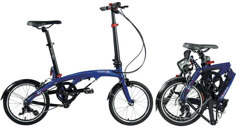 Dahon Faltrad EEZZ D3, 3 Gang Shimano Tiagra Schaltwerk, Kettenschaltung blau Falträder Klappräder Fahrräder Zubehör Fahrrad