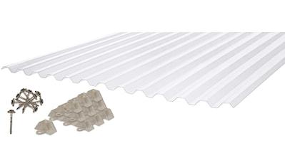 PALRAM Set: Wellplatte »Suntuf«, 0,65 mm klar, 6 Stück á 90x200 cm kaufen