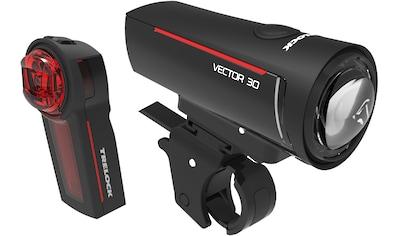 Trelock Fahrradbeleuchtung »LS 300 I-GO VECTOR 30/LS 740 VECTOR REAR SET«, (Front- und... kaufen