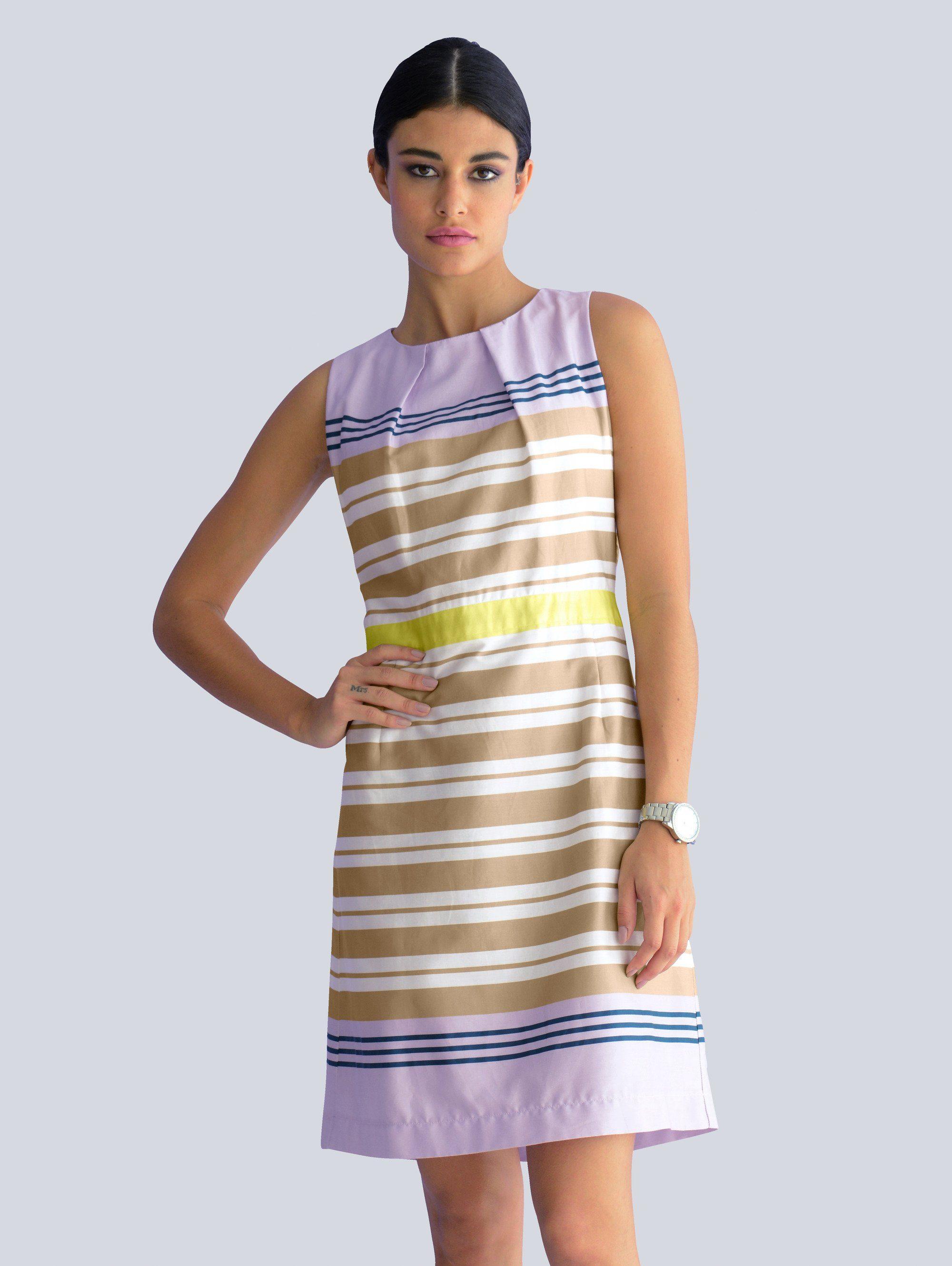 Alba Moda Kleid im Streifendessin