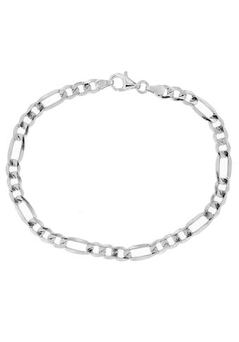 Firetti Silberarmband »Figarokettengliederung, 5,2 mm breit, glanz, 6-fach diamantiert« kaufen