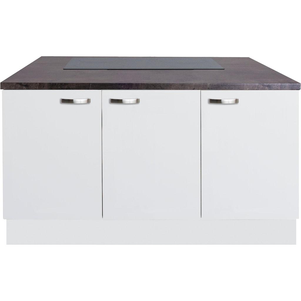 OPTIFIT Kochinsel »Cara«, ohne E-Geräte, mit Vollauszügen und Soft-Close-Funktion, Stellbreite 150 x 95 cm