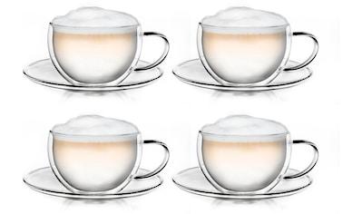 Creano Thermotasse, (Set, 4 tlg., 4 Tassen, 4 Untersetzer), doppelwandig mit... kaufen