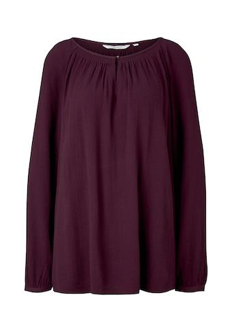 TOM TAILOR MY TRUE ME Langarmbluse »Strukturierte Bluse mit Raglan - Ärmeln« kaufen