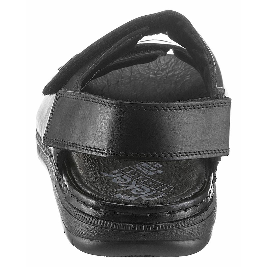 Rieker Sandale, mit 3 verstellbaren Klettverschlüssen