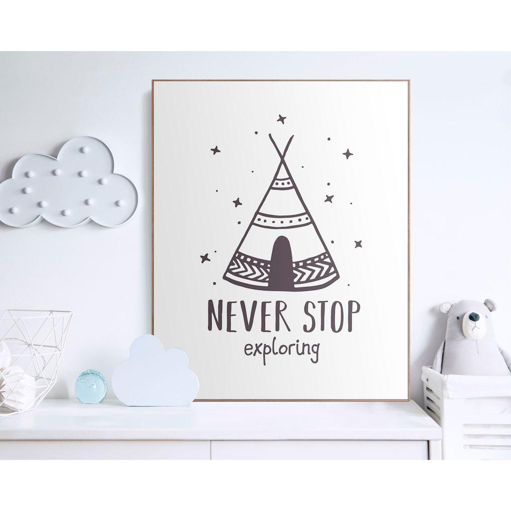 Reinders! Bild mit Rahmen »Never Stop Exploring«, (1 St.)