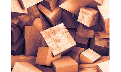 LIVINGWALLS Fototapete »Designwalls Concrete Blocks 2«, Premium Vlies kaufen