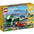 LEGO® Konstruktionsspielsteine »Rennwagentransporter (31113), LEGO® Creator«, (328 St.), Made in Europe
