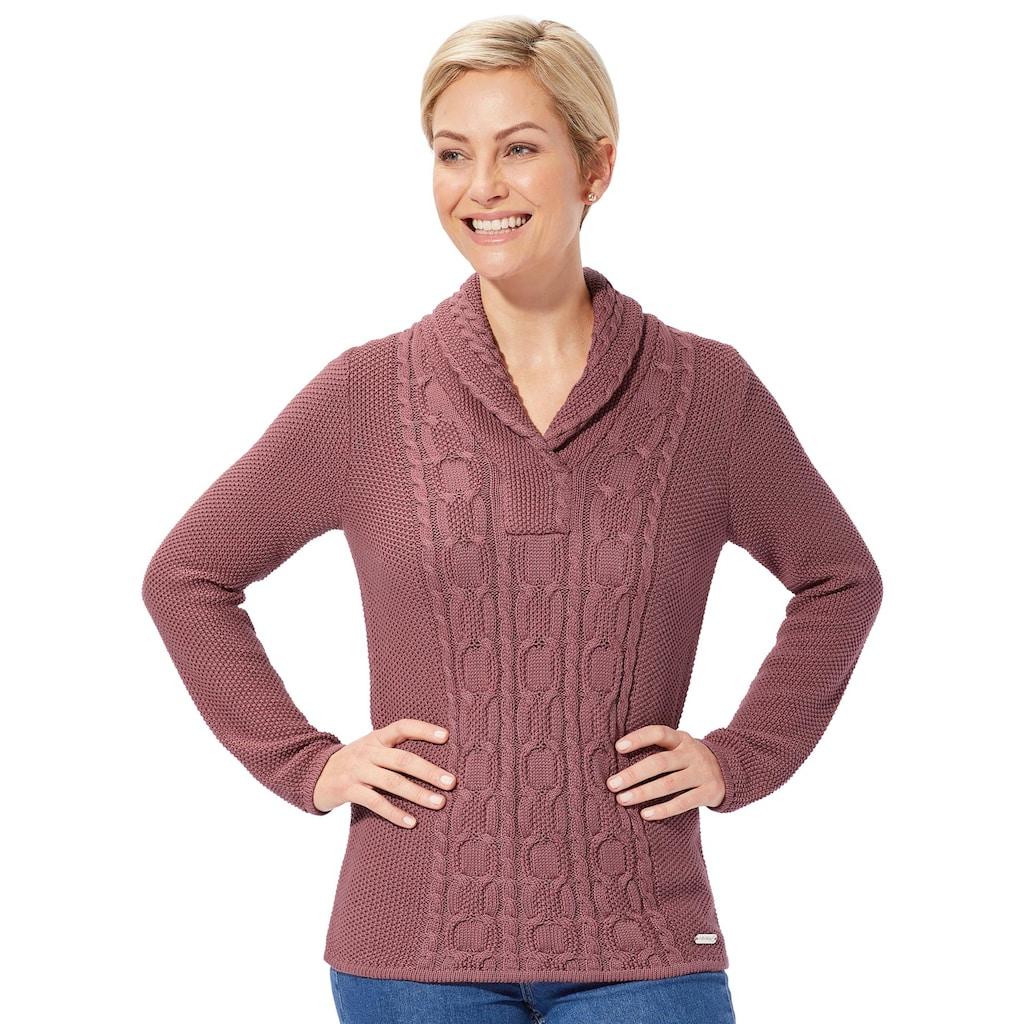 Casual Looks Schalkragenpullover »Pullover«