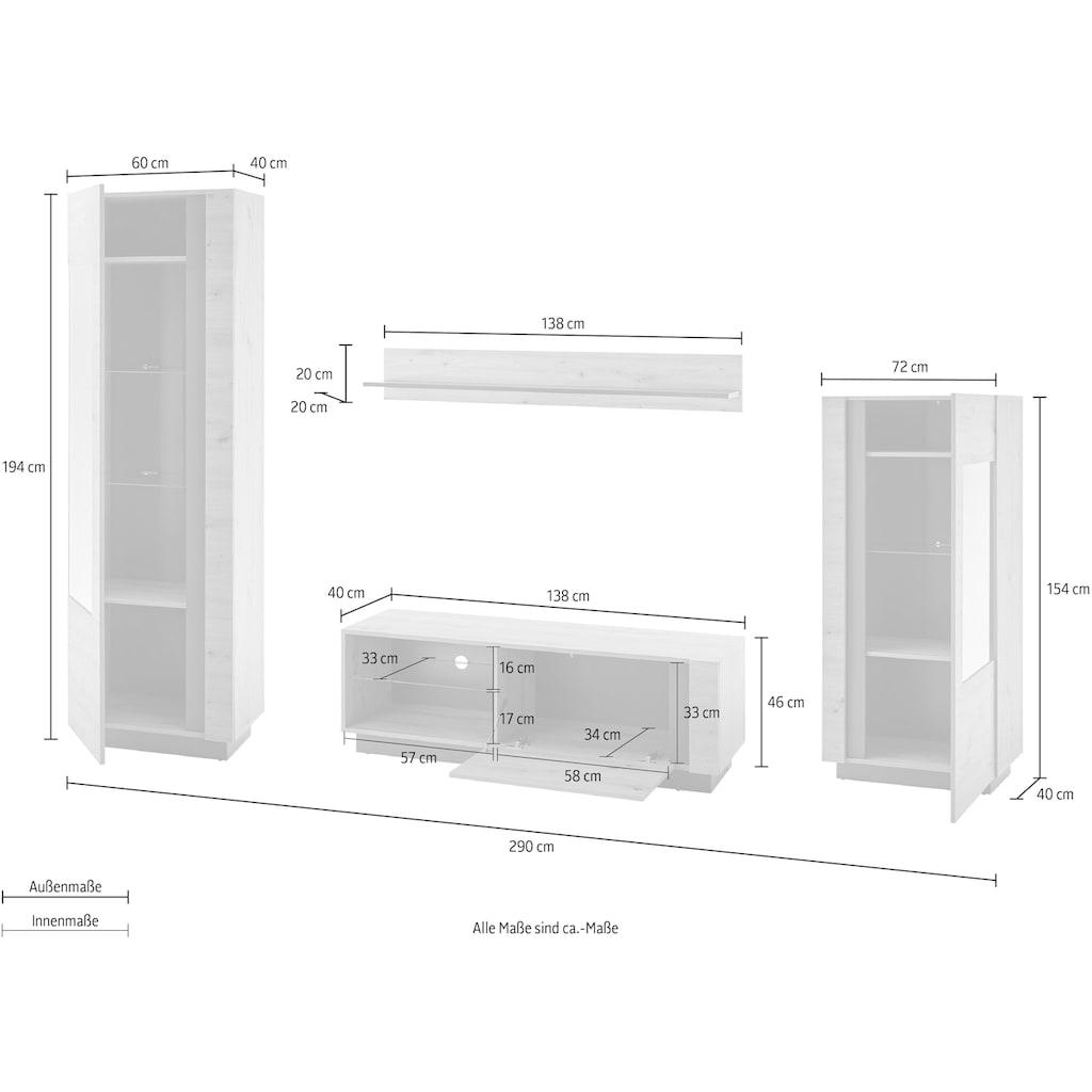 INOSIGN Wohnwand »CLAiR Kombi 21«, (Set, 4 St.)