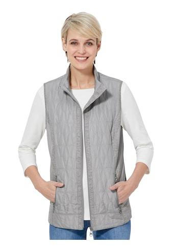 Casual Looks Weste mit grau - melierten Jersey - Blenden kaufen