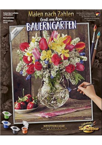 Schipper Malen nach Zahlen »Meisterklasse Premium, Gruß aus dem Bauerngarten«, Made in Germany kaufen