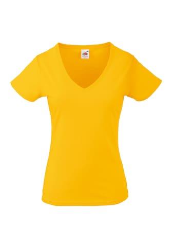 Fruit of the Loom V-Shirt »Lady-Fit Valueweight Damen T-Shirt, V-Ausschnitt« kaufen