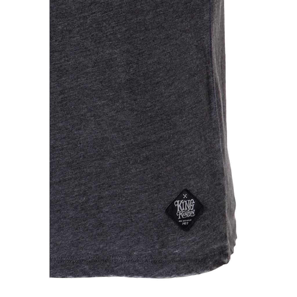 KingKerosin T-Shirt »Chopper«, mit V-Ausschnitt und lässigem Enzymwash