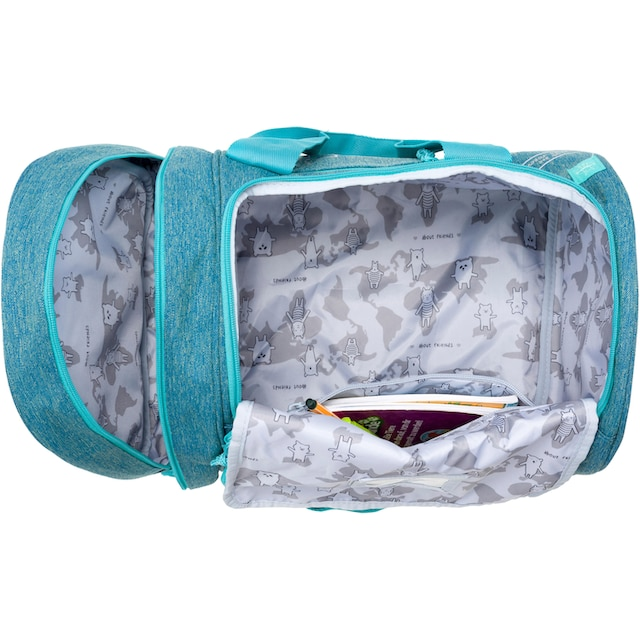 Lässig Sporttasche »4Kids Mini Sportsbag, About Friends Mélange Blue«