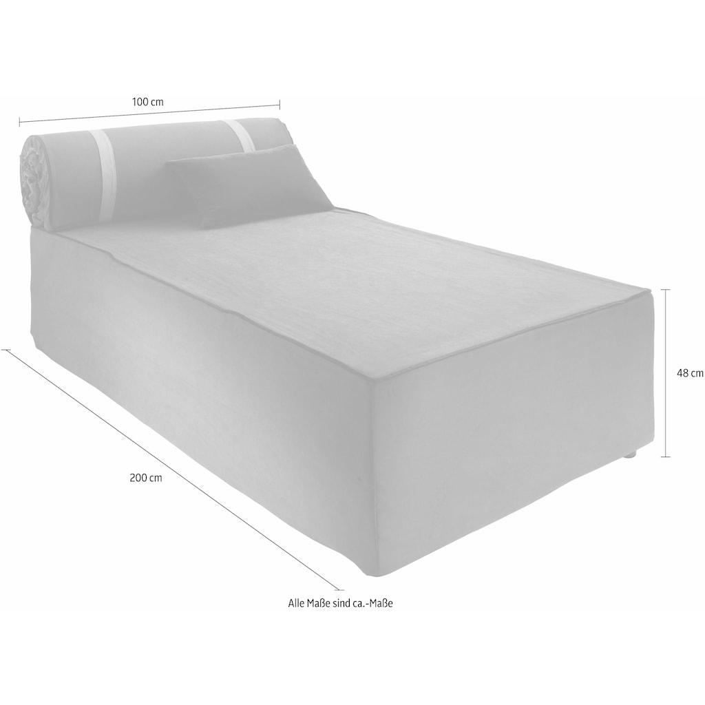 Places of Style Boxspringbett »Base«, ausklappbar auf 200x200 cm