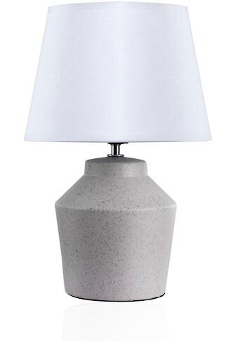 Pauleen Tischleuchte »Glowing Pearl«, E27, Stoffschirm, Grau, Weiß, Keramik kaufen