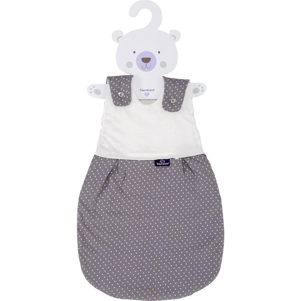 Träumeland Babyschlafsack »Außenschlafsack Pünktchen grau«, (1 tlg.)