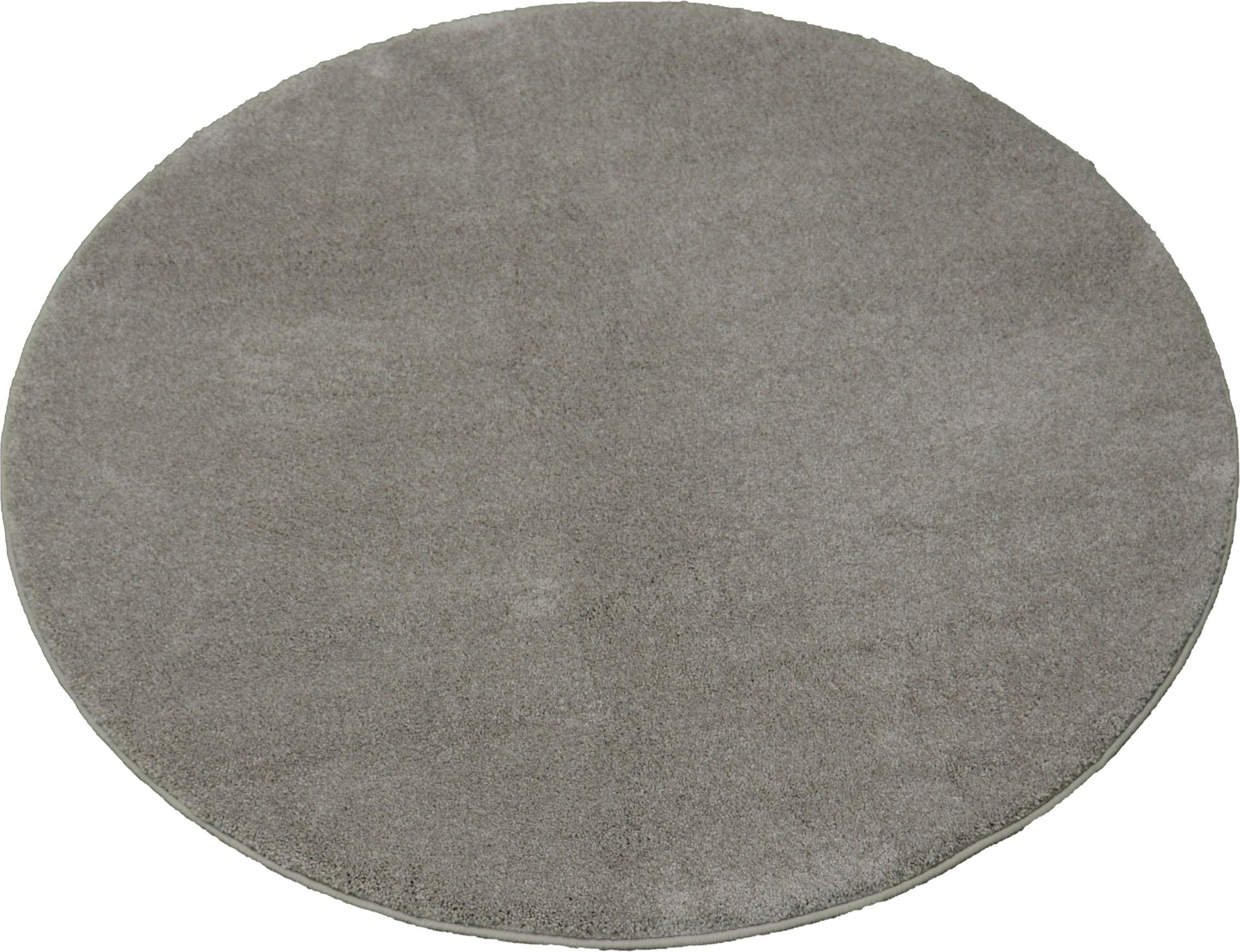 Teppich Montana merinos rund Höhe 20 mm maschinell getuftet