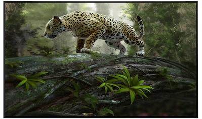 Papermoon Infrarotwandheizung »Jaguar auf der Suche«, sehr angenehme Strahlungswärme kaufen