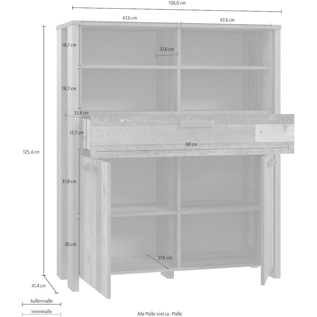FORTE Highboard, Breite 106 cm