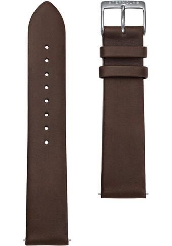 STERNGLAS Uhrenarmband »Premium 20 dunkelbraun silber, SBA00/104« kaufen