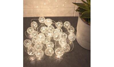 Wall-Art Hängedekoration »Drahtkugeln Lichterkette Silber« kaufen