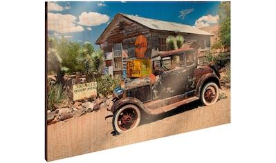 Art & Pleasure Holzbild »Desert car«, Autos kaufen