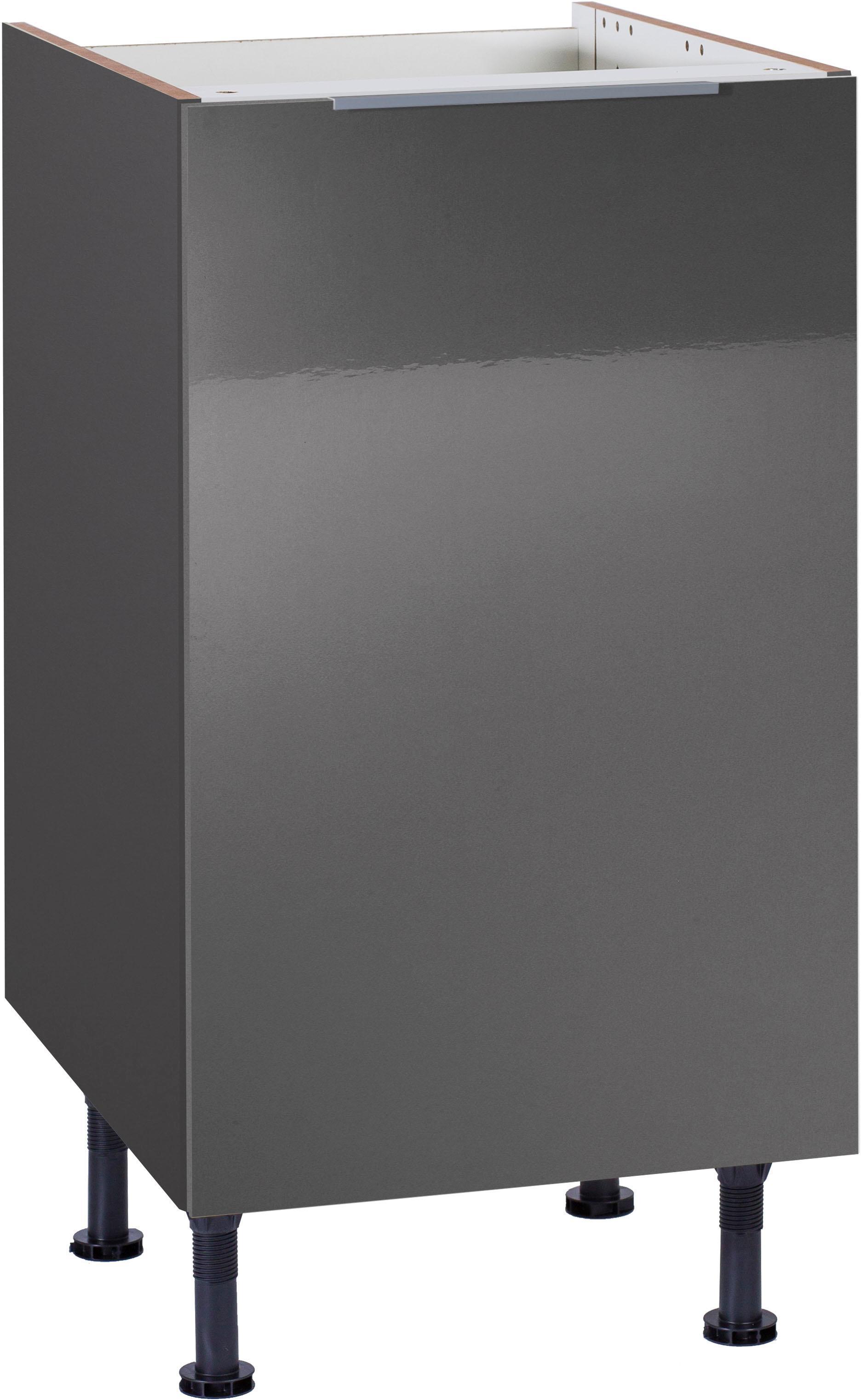 OPTIFIT Spülenschrank Tara Breite 45 cm | Küche und Esszimmer > Küchenschränke > Spülenschränke | Grau | Beton - Glänzend - Melamin | Optifit