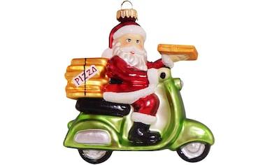 """Krebs Glas Lauscha Christbaumschmuck """"Pizza - Weihnachtsmann auf Vespa"""" (1 - teilig) kaufen"""