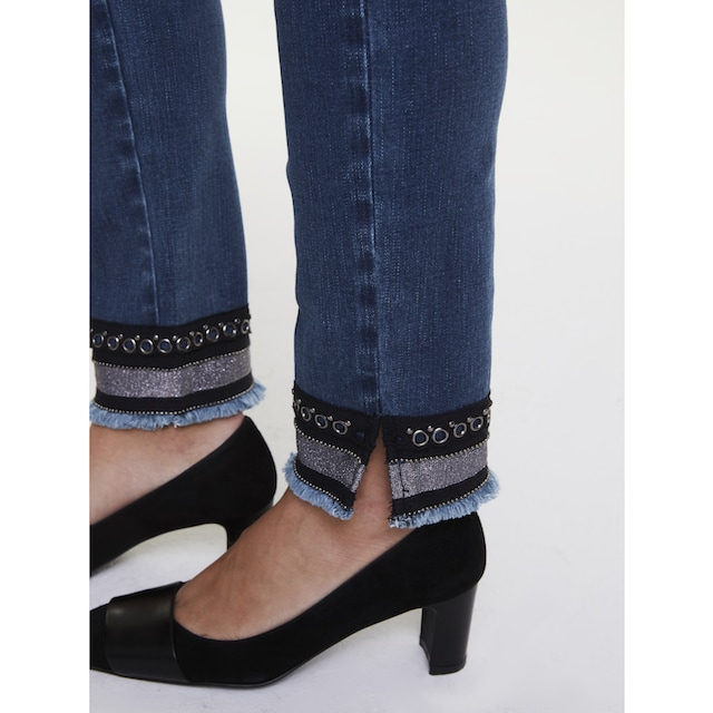 Bauchweg-Jeans Aleria mit Zierband am Saum