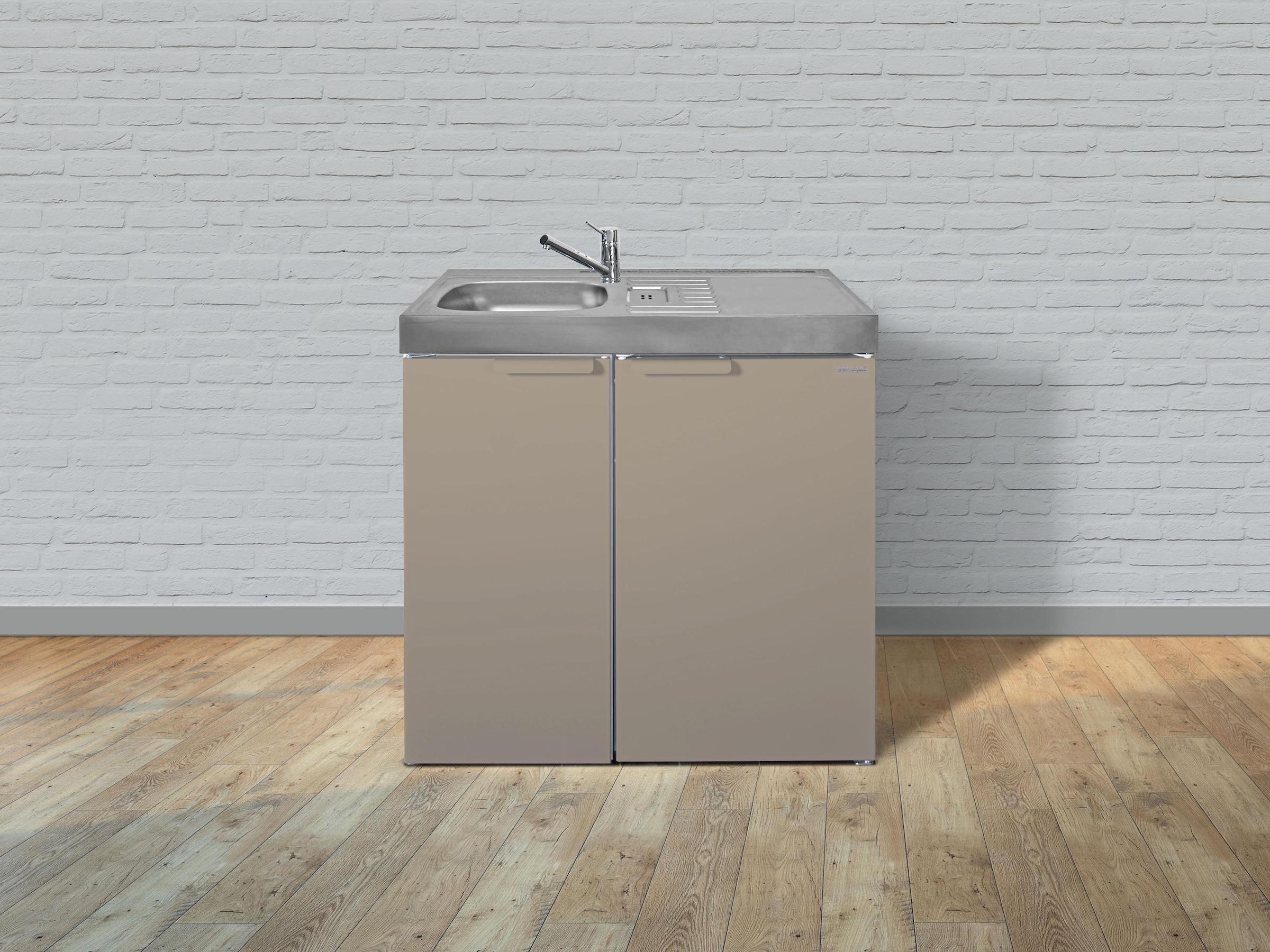 Miniküche Mit Kochfeld Und Kühlschrank : Stengel metall miniküche kitchenline mk mit kühlschrank ohne