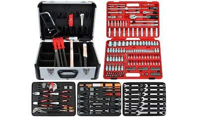 FAMEX Werkzeugkoffer »716 - 21«, Komplettset, inkl. 174 - tlg. Steckschlüsselsatz kaufen