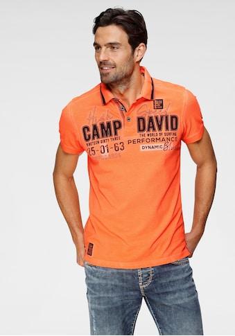 CAMP DAVID Poloshirt, mit Logrofrontprint kaufen