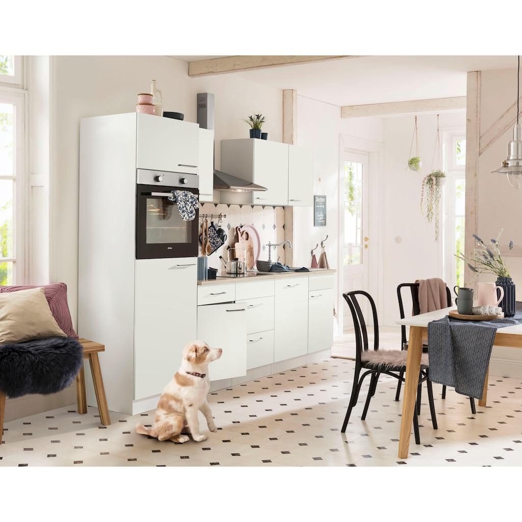 wiho Küchen Küchenzeile »Zell«, mit E-Geräten, Breite 280 cm