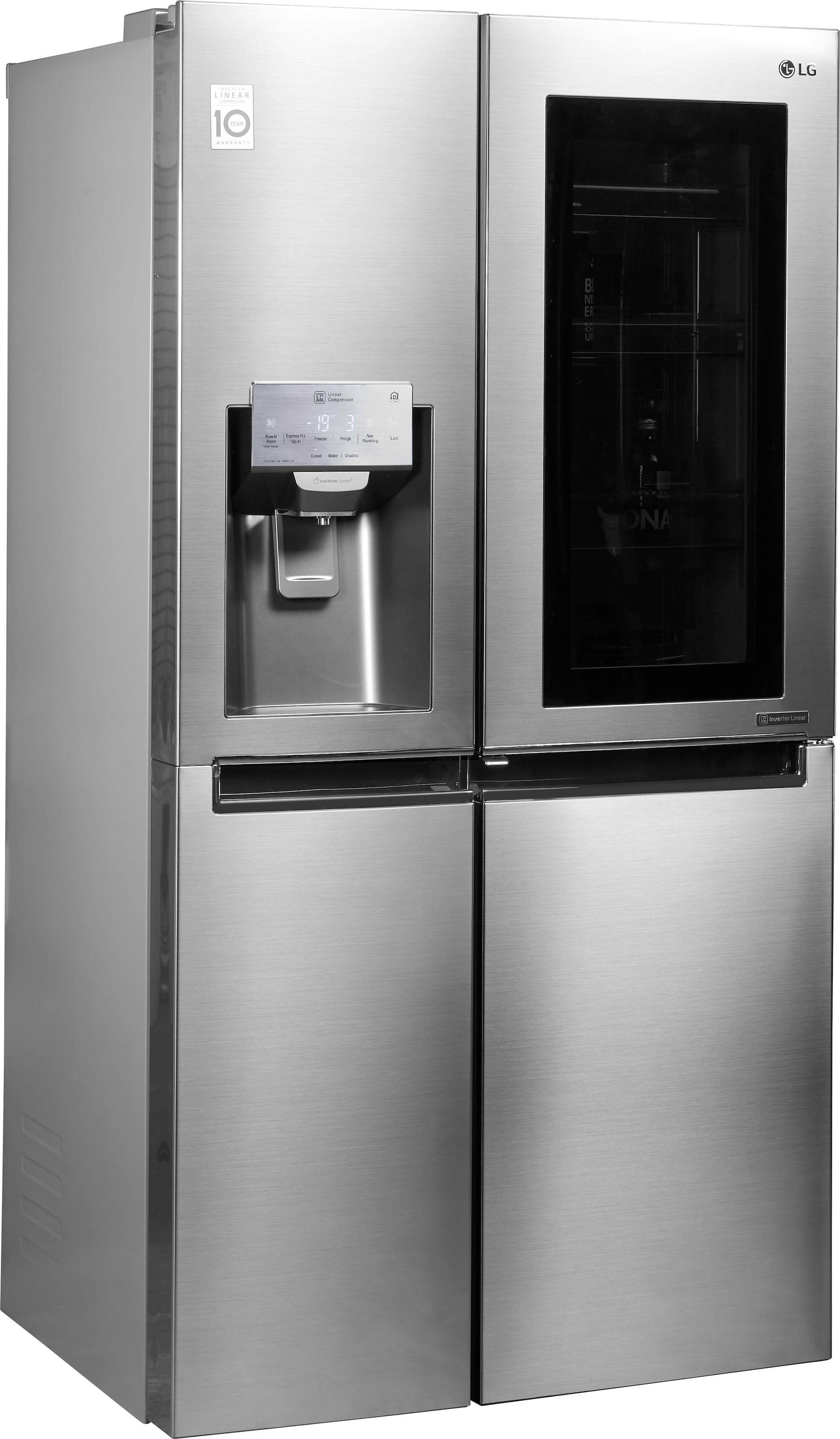Amerikanischer Kühlschrank 80 Cm Breit : Side by side kühlschrank auf rechnung raten kaufen