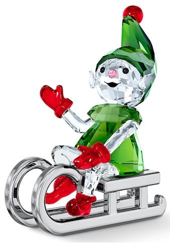 Swarovski Dekofigur »Santas Elfe mit Schlitten, 5533947«, Swarovski® Kristall mit... kaufen