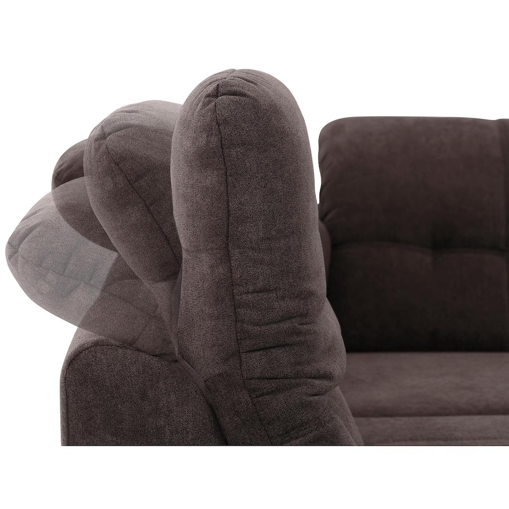 DELAVITA Ecksofa »Lotus«, mit Sitztiefenverstellung, in 3 Bezugsarten und vielen Varianten