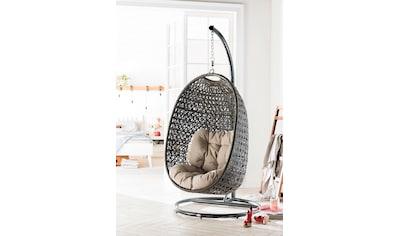 DESTINY Hängesessel »Cocoon«, Polyrattan, beige, inkl. Sitz -  und Rückenkissen kaufen