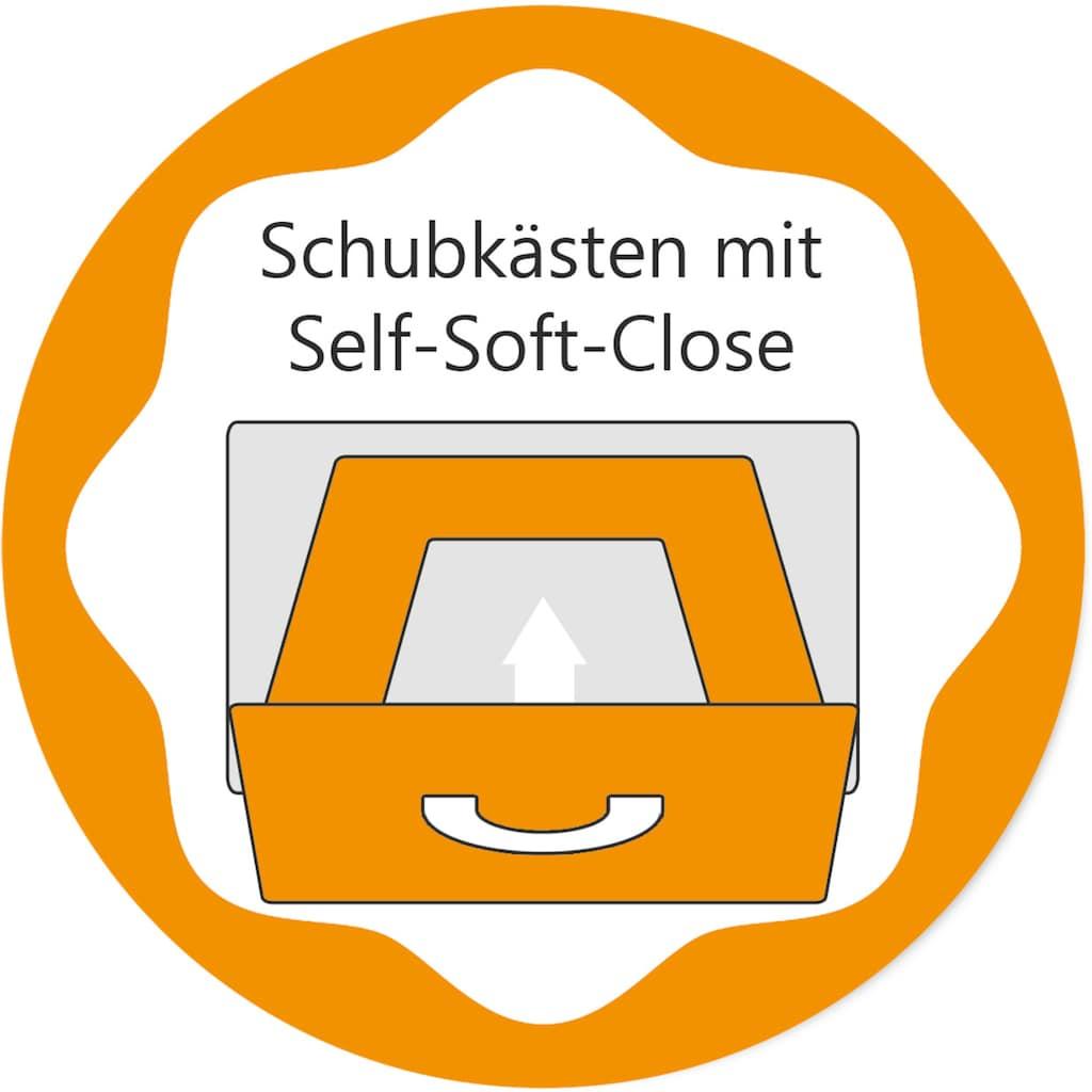 arthur berndt Babyzimmer-Komplettset »Amal«, (Set, 3 St.), Made in Germany; mit Kinderbett, Schrank und Wickelkommode