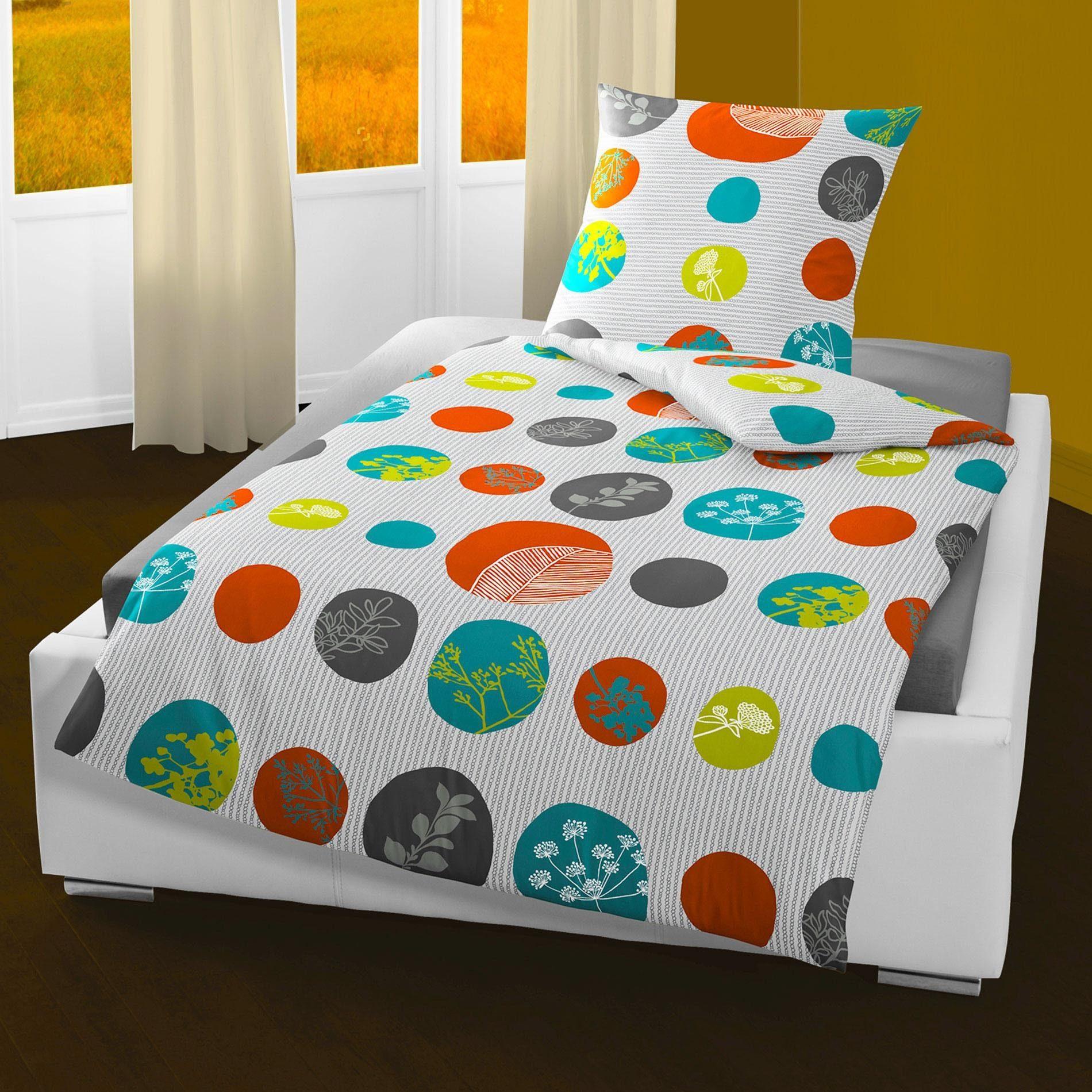 Bettwäsche colorful dots BIERBAUM
