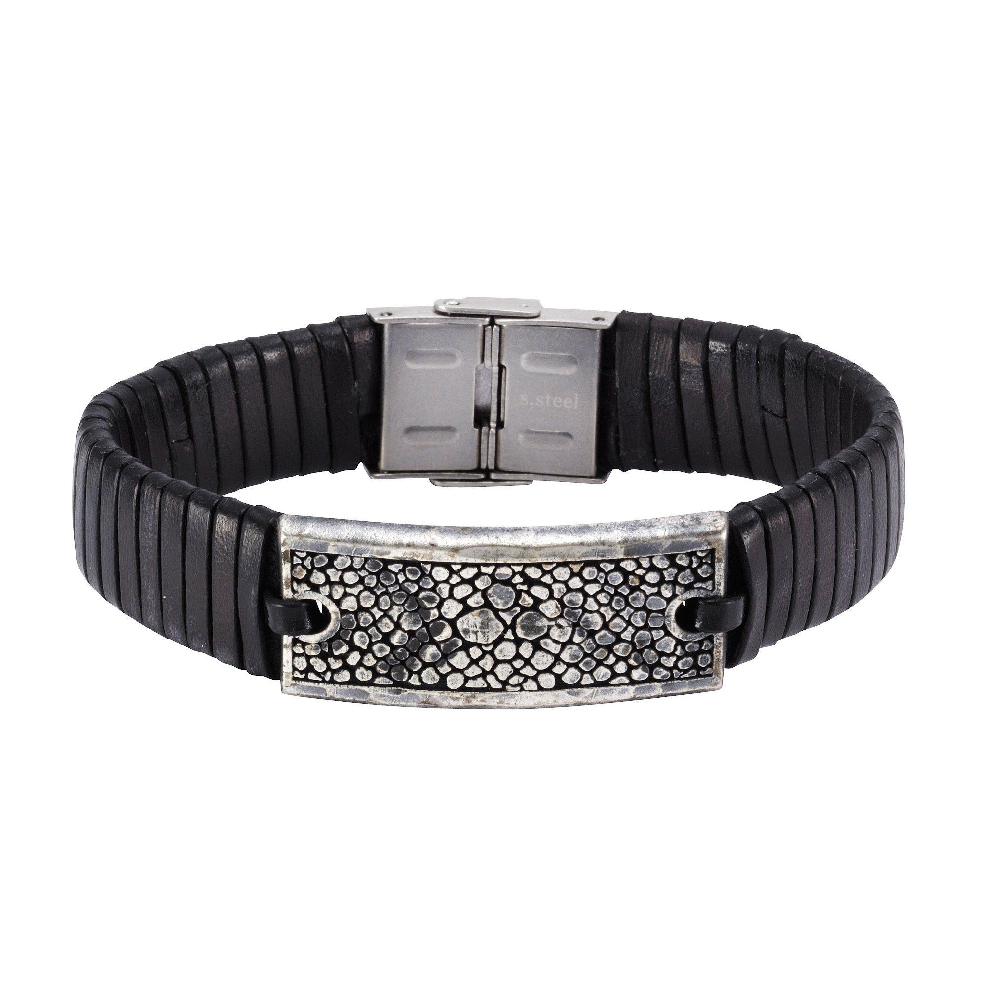 NOX Armband Leder schwarz Edelstahl   Schmuck > Armbänder > Sonstige Armbänder   Schwarz   Leder   Nox