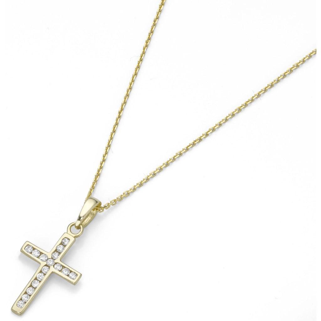 Firetti Kette mit Anhänger »Kreuz, zart«, mit Zirkonia